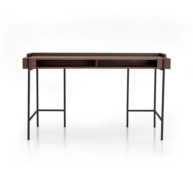 Black Frame Wooden Large Desk