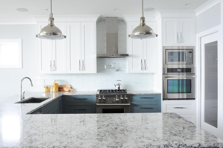 White And Blue Granite Countertops