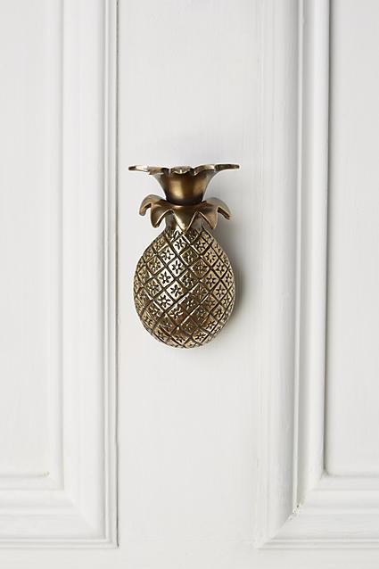 Antique brass pineapple door knocker - Pineapple door knocker ...