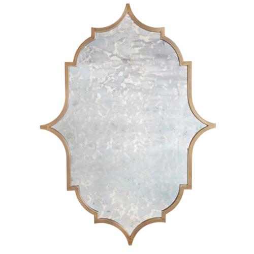 Privilege Small Silvertone Accent Mirror