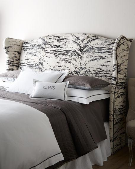 White And Black Emerson Slipcovered Headboard
