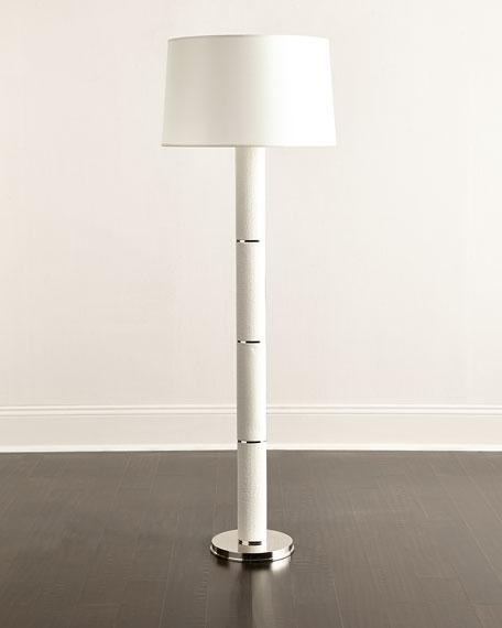 Francesco silver floor lamp white crocodile print leather floor lamp aloadofball Image collections