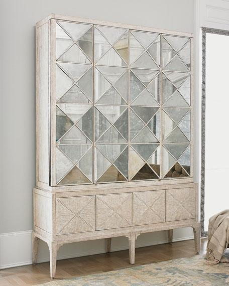 antique white mirrored entertainment cabinet view full size antiqued mirrored doors view full size
