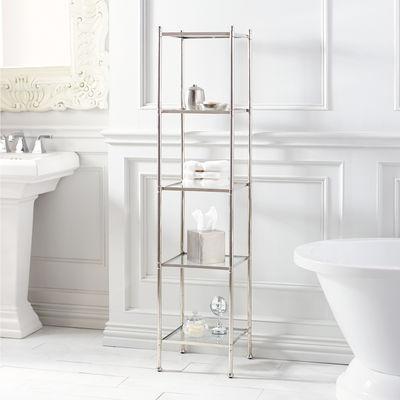 Five Tier Polished Nickel Bath Shelf