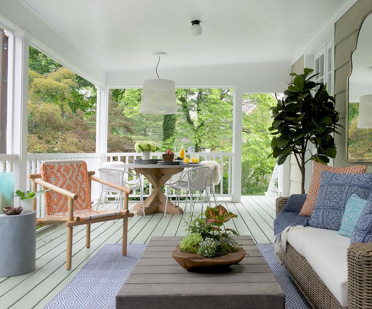 Covered Deck With Living And Dining Space