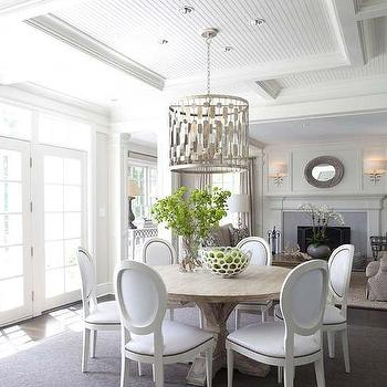 round french dining table gold leaf lantern design ideas