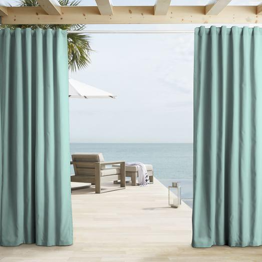 Aqua Blue Outdoor Curtain