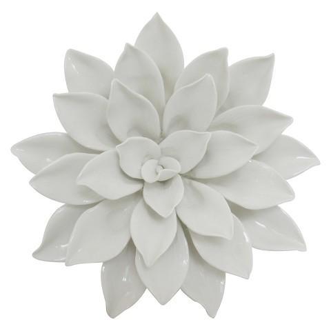 Porcelain white flower wall decor mightylinksfo