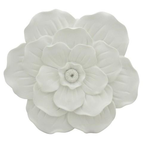 White Sculptural Flower Wall Decor