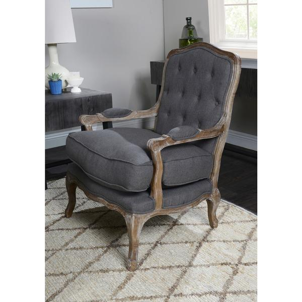 - Upholstered Gray Antique French Style Chair