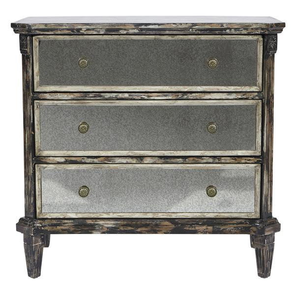 Distressed Black And Gray Accent Chest