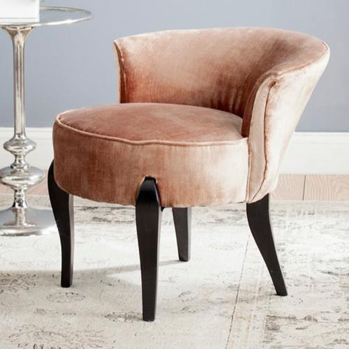 Upholstered Cabriole Legs Vanity Chair