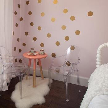 Superb Pink And Gold Girls Bedroom With Lottie Dots Gold Decals