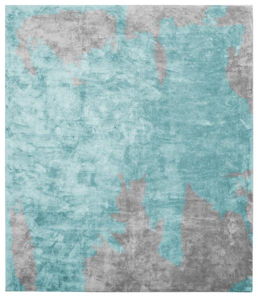 Blue And Gray Abstract Rug