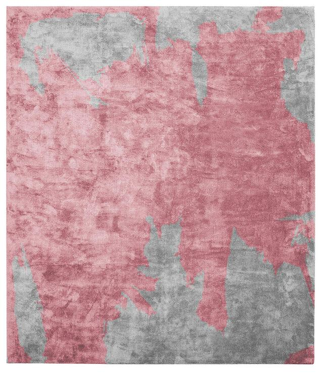 Gray And White Abstract Splatter Rug