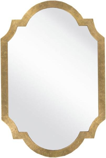 Gold Curved Decor Wall Mirror
