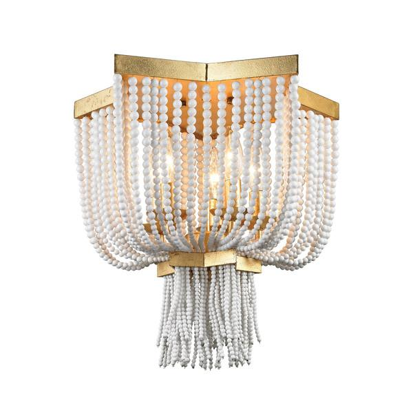 Beaded Gold Accents Flush Mount