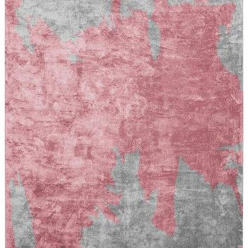 Pink And Gray Abstract Rug