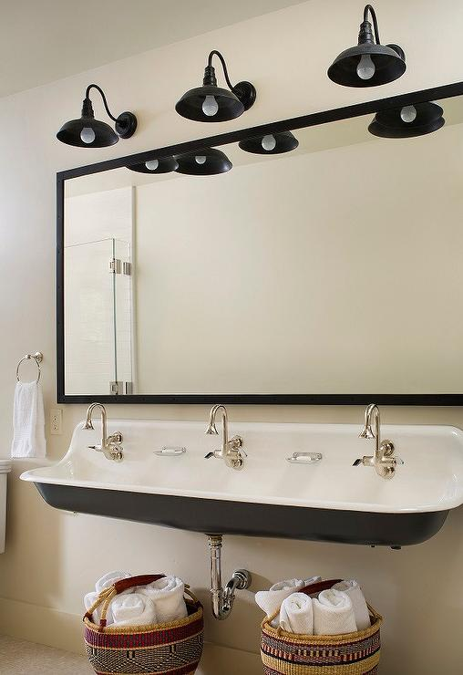 Black Kohler Brockway Sink Contemporary Bathroom