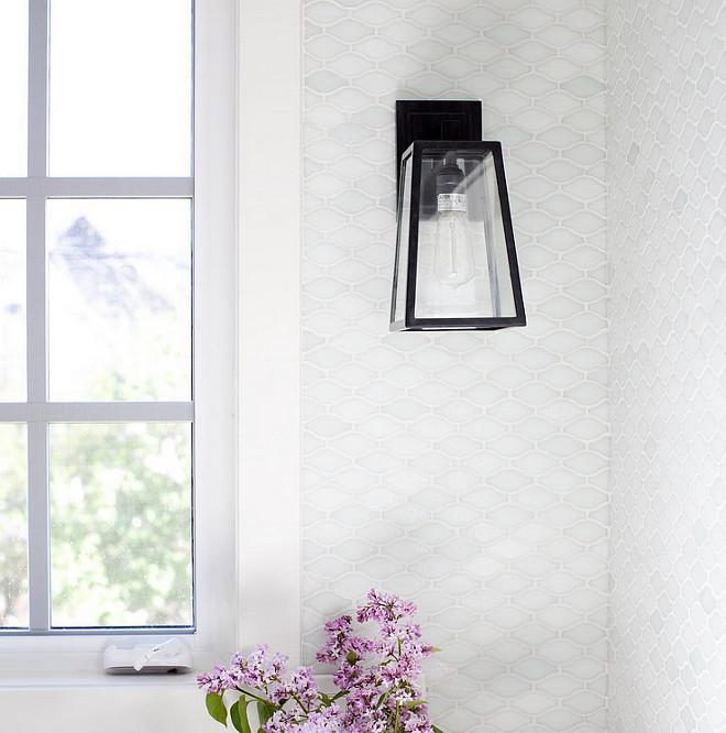 White Glass Kitchen Tiles: White Glass Kitchen Backsplash Design Ideas