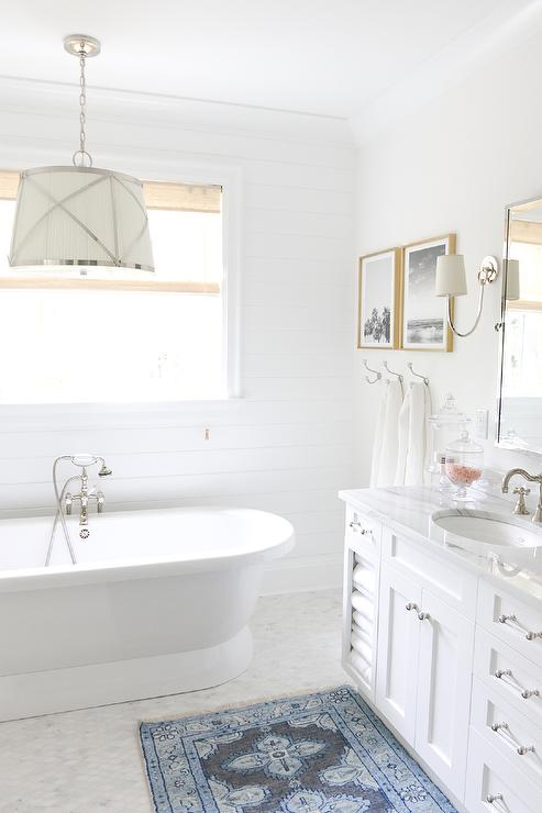 Small Bathrooms Painted French Grey And White