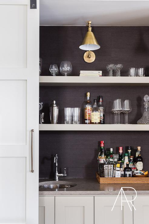 brass and wood wet bar shelves design ideas wet bar with open shelves shelves above wet bar