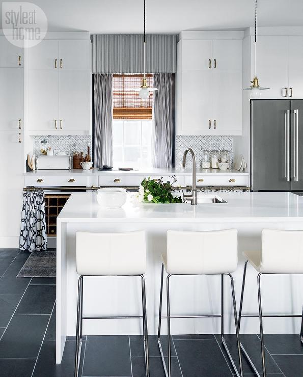 White And Gray Kitchen With Ikea Cabinets