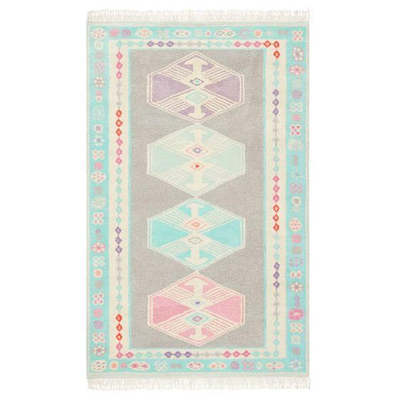 Pattern Blue and Pink Rug