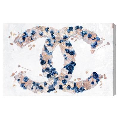 Chanel Gold Foil Cc Monogram Logo Art Print