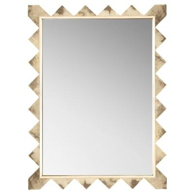 gold triangles framed wall mirror