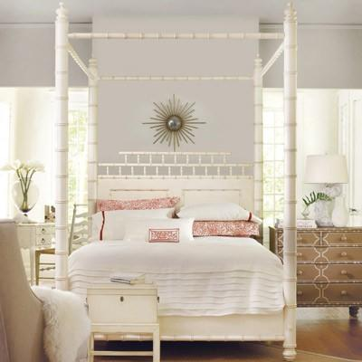 bamboo motif white canopy bed - Bamboo Canopy 2015