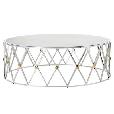 Scale Cutouts Brass Coffee Table