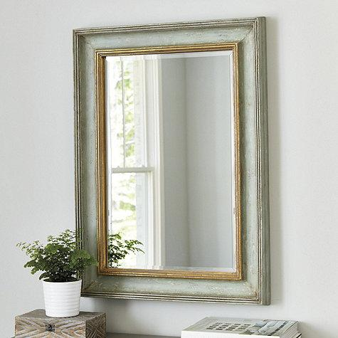 Gold And Gray Distressed Frame Mirror