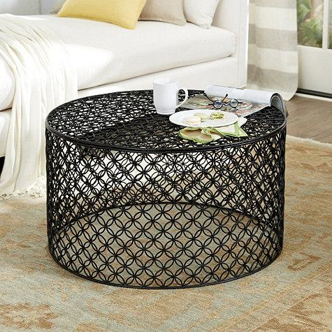 Black Lacy Quatrefoil Pattern Coffee Table - Quatrefoil Coffee Table - Products, Bookmarks, Design, Inspiration
