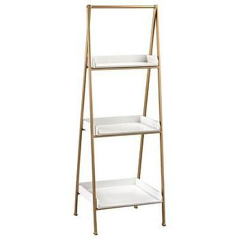 Blue Ladder Style Shelf