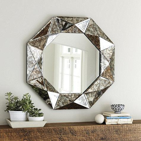 Hanna Silver Glass Frame Mirror