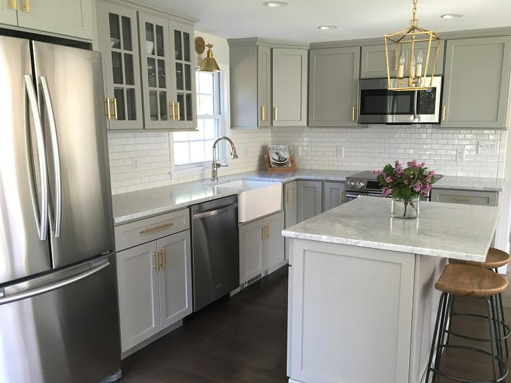 Gray Kitchen With Blanco Cerano Sink And Brizo Artesso Faucet