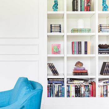 Alyssa Rosenheck Living Room With Recessed Bookcases