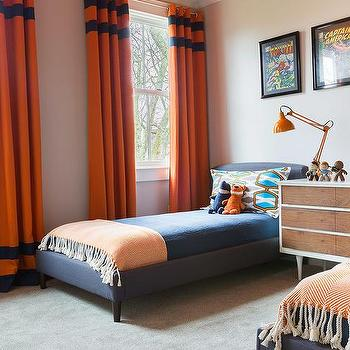 Boys rooms turquoise blue and orange bedroom design ideas for Blue and orange room