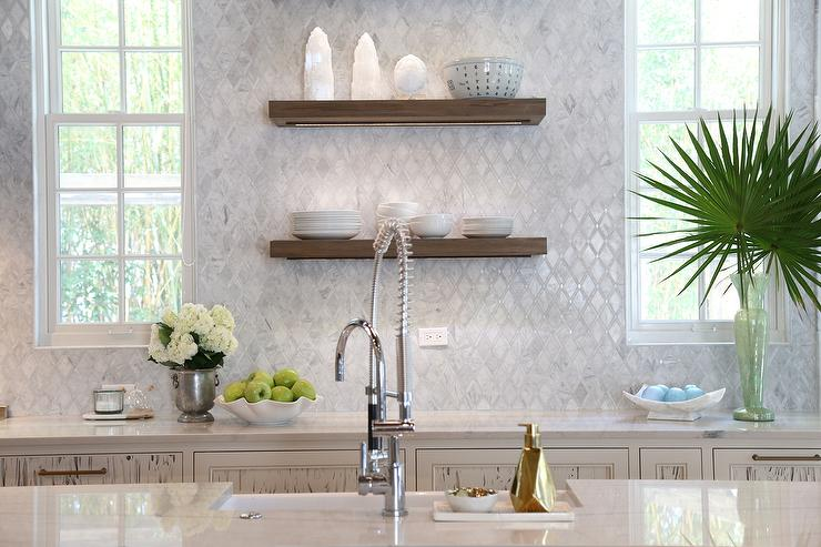 Cypress kitchen cabinets with marble diamond pattern tiles cottage cypress kitchen cabinets with marble diamond pattern tiles ppazfo