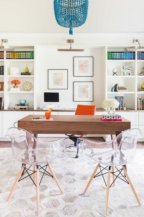 alyssa rosenheck face to face desks with built in bookcases