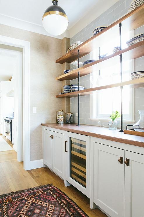 Plumbing Pipe Kitchen Shelves Design Ideas