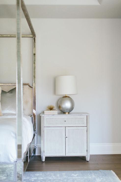 Mercury Glass Nightstand Lamps