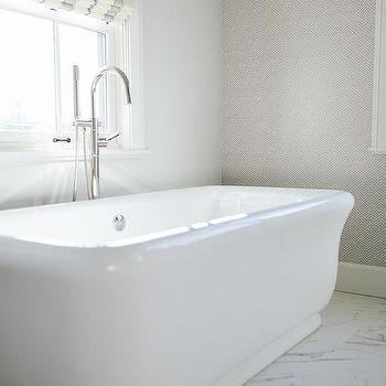Empire Freestanding Rectangular Tub Country Bathroom