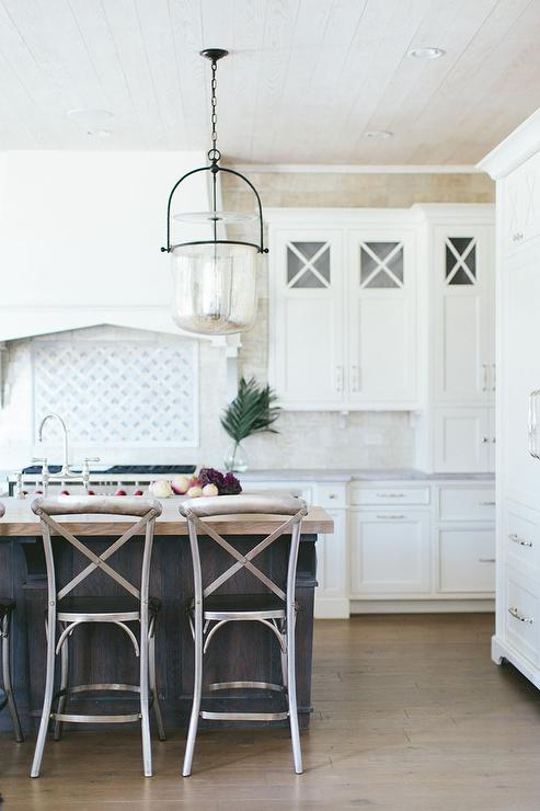 kitchen island with metal madeleine stools view full size