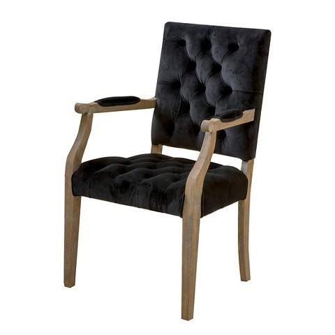Christopher Knight Home Moira Grey Velvet Arm Dining Chair