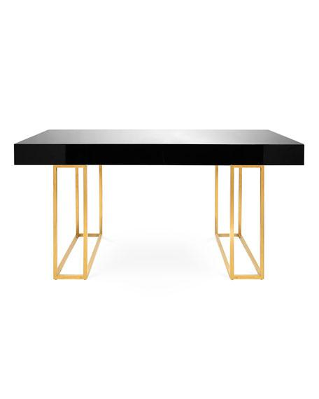 Burnished Gold Desk Base