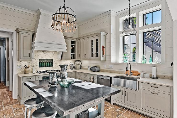 kitchen floors in this gorgeous cottage style kitchen featuring a