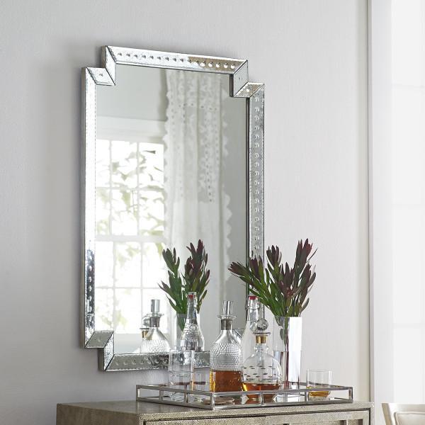 Engraved Glass Venetian Mirror
