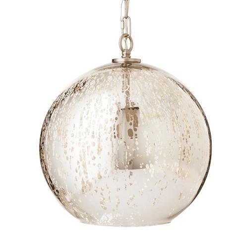mercury glass pendant. Mercury Glass Pendant
